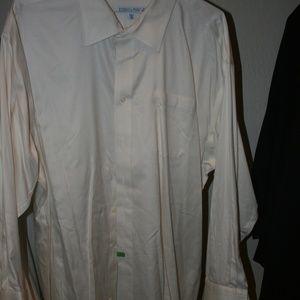 Joseph & Feiss cream mens dress shirt
